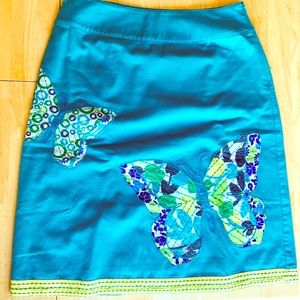 Boden butterfly appliqué skirt, US 6.